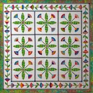 Summertime Foundation Paper Piecing Pattern Quilt