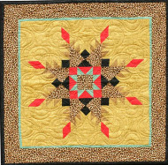 Kitty Star Foundation Paper Piecing Quilt