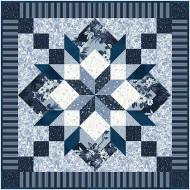 Azure Dreams Foundation Paper Piecing Quilt