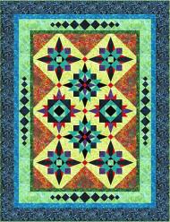 Marti Gras Foundation Paper Piecing Quilt