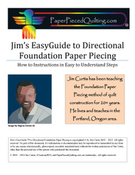 Jim's EasyGuide to Directional Foundation Paper Piecing