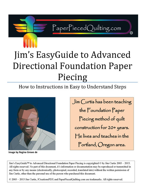 Jim's EasyGuide to Advanced Directional Foundation Paper Piecing