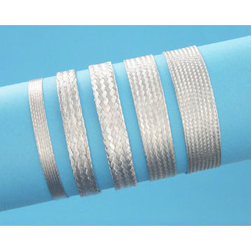 "3/4"" Tin coated Copper Expandable Braided Sleeving (Flat)"