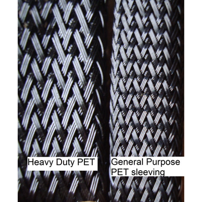 "1 1/2"" Heavy Duty PET Braided sleeving (250 ft/spool)"