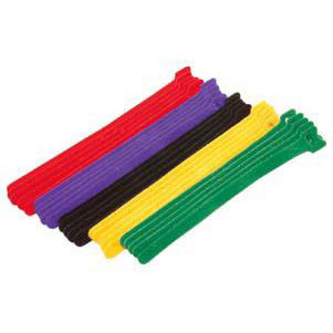 "3/4"" x 8 inch Long Hook and Loop ties - 15 pieces, Assorted Colors"