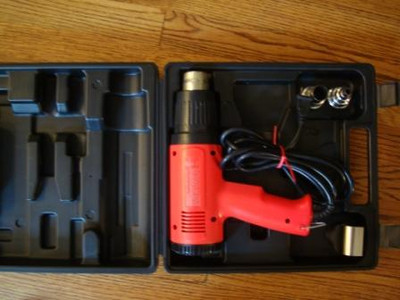 "VT-1100 Heat Gun Carrying Case with attachments (5/8"" concentrator, 3/8"" concentrator & shrink tube reflector)"