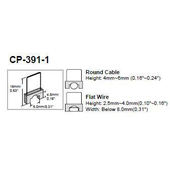 Insulated Staples for CP-391 Staple Gun (16 Staple X 8W X 4.5mmH) 200 pcs per Pack