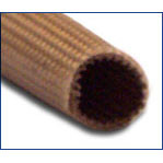 6 AWG Size Ben Har 1151-FR (Liquid Silicone Coated) Fiberglass Sleeving - 125 ft