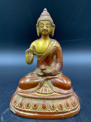 Bronze with red Medicine Buddha