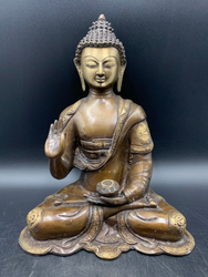 Bronze Medicine Buddha with right hand up