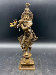 Brass Lord Krishna with Flute