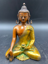 Brass Green Yellow and Red Buddha
