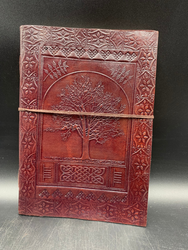 Tree print Leather notebook