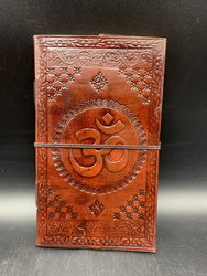 Leather OM sign notebook