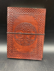 Leather Circle Tree Notebook