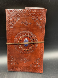 Leather Journal W/Blue Stone