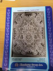 HAMSA HAND TAPESTRY (GREY)