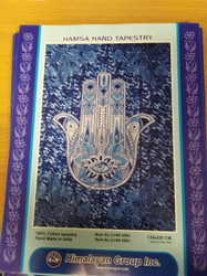 HAMSA HAND (BLUE) ONE DESIGN TAPESTRY