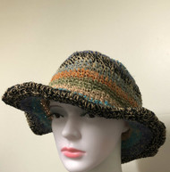 HEMP HAT BROWNISH ROCK DESIGN