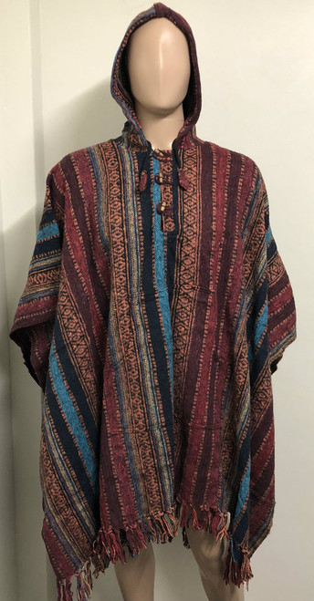Right Here we have a brand new unisex style of poncho with a male mannequin doll