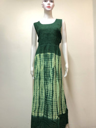 LEAF DESIGN VISCOSE DRESS