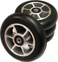 4 Built 100x24 mm Roller Ski Wheels
