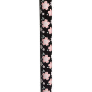 Foam Grip Offset Handle Walking Cane, Pink Floral