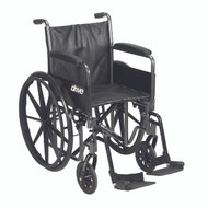 """Silver Sport 2 Wheelchair, Detachable Full Arms, Swing away Footrests, 16"""" Seat"""
