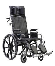 "Sentra Reclining Wheelchair, Detachable Desk Arms, 22"" Seat"