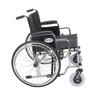 "Sentra EC Heavy Duty Extra Wide Wheelchair, Detachable Desk Arms, 26"" Seat"