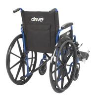 "Blue Streak Wheelchair with Flip Back Desk Arms, Elevating Leg Rests, 20"" Seat"