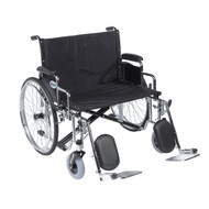 "Sentra EC Heavy Duty Extra Wide Wheelchair, Detachable Desk Arms, Elevating Leg Rests, 26"" Seat"