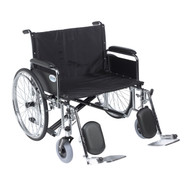 "Sentra EC Heavy Duty Extra Wide Wheelchair, Detachable Full Arms, Elevating Leg Rests, 28"" Seat"