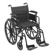 """Cruiser X4 Lightweight Dual Axle Wheelchair with Adjustable Detachable Arms, Desk Arms, Swing Away Footrests, 18"""" Seat"""