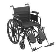 """Cruiser X4 Lightweight Dual Axle Wheelchair with Adjustable Detachable Arms, Desk Arms, Elevating Leg Rests, 20"""" Seat"""