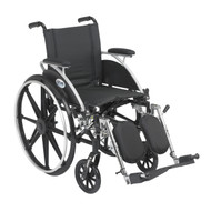 "Viper Wheelchair with Flip Back Removable Arms, Desk Arms, Elevating Leg Rests, 12"" Seat"