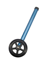 "Walker Wheels with Two Sets of Rear Glides, for Use with Universal Walker, 5"", Blue, 1 Pair"