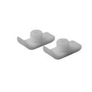 Walker Ski Glides, White, 1 Pair