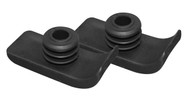 Walker Ski Glides, Black, 1 Pair