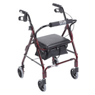 Mimi Lite Walker Rollator, Flame Red
