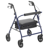 "Bariatric Rollator with 8"" Wheels, Blue"