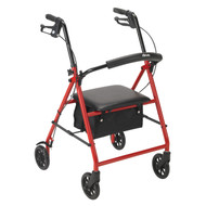 """Rollator with 6"""" Wheels, Red"""