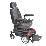 "Titan X23 Front Wheel Power Wheelchair, Full Back Captain's Seat, 20"" x 18"""