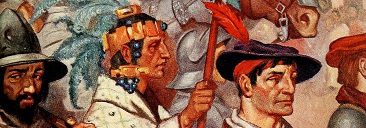 Conquistadors in Tenochtitlan