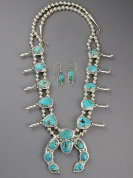 Contemporary Turquoise Necklace Set