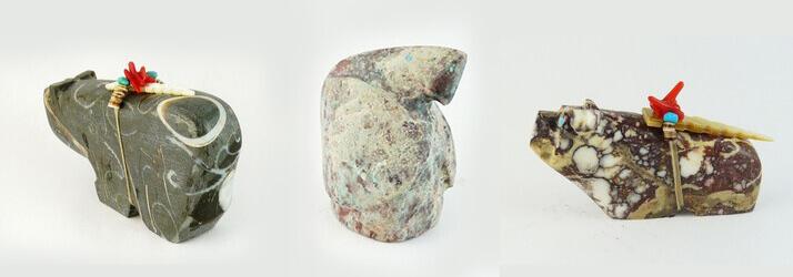 Native American Zuni fetishes