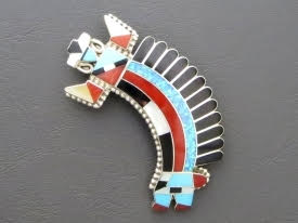Inlay Rainbow Man Pendant & Brooch