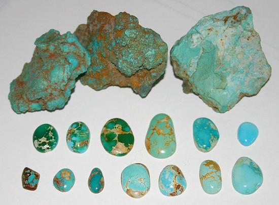 Various Turquoise Colors
