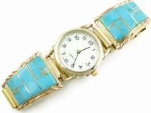 turquoise gold watches