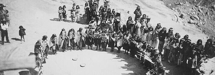 women in Native American dress